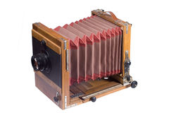 Vecchia grande macchina fotografica di formato Fotografia Stock Libera da Diritti