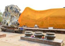 Vecchia grande statua Buddha fotografia stock