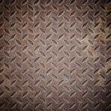 Vecchia griglia arrugginita dello scolo del ferro. Fotografie Stock