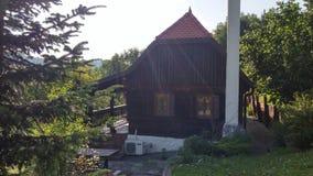 Vecchia iarda di legno della casa Fotografia Stock Libera da Diritti
