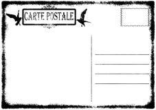 Vecchia illustrazione in bianco della cartolina del grunge Immagini Stock