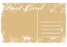 Vecchia illustrazione in bianco della cartolina del grunge Fotografie Stock