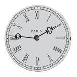 Vecchia illustrazione del quadrante di orologio di vettore Immagini Stock