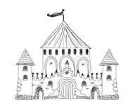 Vecchia illustrazione incisa del castello de Pau Immagine Stock Libera da Diritti