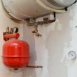 Vecchia installazione del riscaldamento Fotografia Stock Libera da Diritti