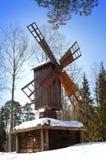 Vecchia isola di legno di Seurasaari del museo del mulino all'aperto, Helsinki, Finlandia Fotografie Stock