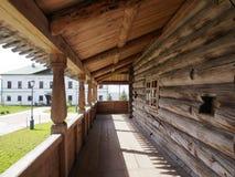Vecchia isola di legno russa di Sviyazhsk della chiesa ortodossa fotografia stock