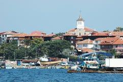 Vecchia isola di Nesebar - ricorso bulgaro famoso fotografia stock