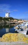 Vecchia isola di Paros del porto di Paroiakia, Grecia Fotografie Stock Libere da Diritti