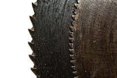 Vecchia lama per sega arrugginita Fotografia Stock Libera da Diritti