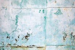 Vecchia lamiera di acciaio grungy verde, struttura del fondo Fotografie Stock