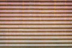 Vecchia lamina di metallo ondulata arrugginita Immagine Stock Libera da Diritti
