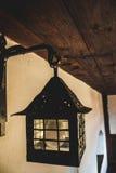 Vecchia lampada da parete del metallo Fotografia Stock Libera da Diritti