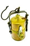 Vecchia lampada di minatori del carburo fotografie stock libere da diritti