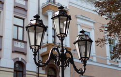 Vecchia lampada di via Fotografie Stock