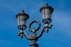 Vecchia lampada di via al quadrato di Pushkin fotografia stock