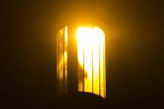 Vecchia lampada di via storica a Praga Fotografie Stock Libere da Diritti