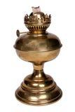 Vecchia lampada dorata della benzina Fotografie Stock Libere da Diritti