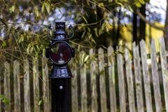 Vecchia lampada ferroviaria d'annata immagine stock libera da diritti
