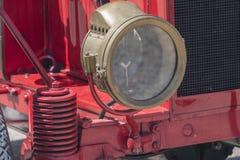 Vecchia lampada a olio dell'automobile, lampada di cherosene Fotografie Stock