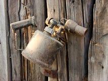 Vecchia lampada per saldare Fotografia Stock