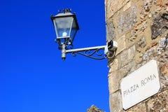 Vecchia lampada in Sicilia Immagine Stock
