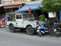 Vecchia land rover Fotografie Stock