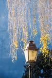 Vecchia lanterna d'annata della lampada di via Fotografie Stock Libere da Diritti