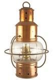 Vecchia lanterna d'ottone Immagini Stock