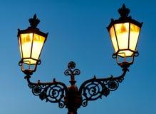 Vecchia lanterna della via Fotografie Stock