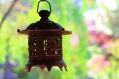 Vecchia lanterna giapponese Fotografie Stock Libere da Diritti
