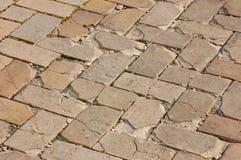 Vecchia lastra per pavimentazione Immagini Stock