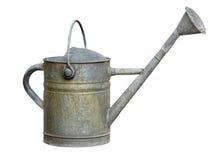 Vecchia latta di innaffiatura del metallo Fotografia Stock