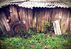 Vecchia legnaia Fotografie Stock Libere da Diritti