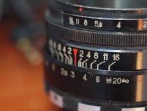 Vecchia lente di helios fotografia stock