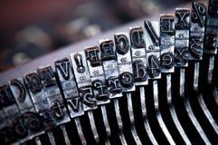 Vecchia lettera della macchina da scrivere immagine stock libera da diritti