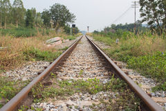 Vecchia linea ferroviaria Fotografia Stock Libera da Diritti