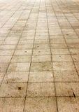 Vecchia linea mattonelle del cemento della via Fotografie Stock Libere da Diritti