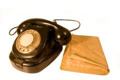 Vecchia linea terrestre - telefono di oldschool Immagine Stock Libera da Diritti