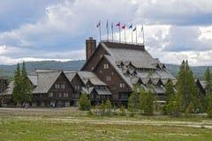 Vecchia locanda fedele, parco nazionale di Yellowstone, Wyoming, U.S.A. Immagini Stock Libere da Diritti