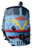 Vecchia locomotiva blu Fotografia Stock