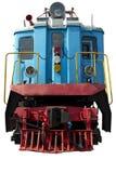 Vecchia locomotiva blu Fotografie Stock