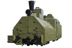 Vecchia locomotiva corazzata Immagine Stock