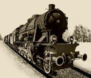 Vecchia locomotiva del motore a vapore Immagini Stock Libere da Diritti