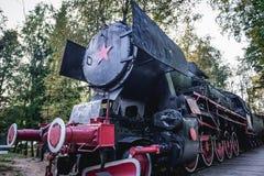 Vecchia locomotiva del treno Fotografie Stock