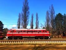 Vecchia locomotiva diesel Fotografia Stock Libera da Diritti
