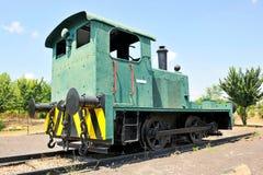 Vecchia locomotiva diesel, Puertollano, La Mancha, Spagna della Castiglia fotografie stock libere da diritti