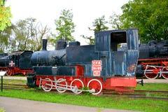 Vecchia locomotiva, fatta in Resita Immagini Stock Libere da Diritti