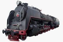 Vecchia locomotiva nera Fotografia Stock Libera da Diritti