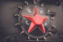 Vecchia locomotiva sovietica Immagini Stock Libere da Diritti
